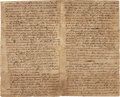 Autographs:Statesmen, [Treaty of Lancaster]. Autograph Letter from Maryland GovernorThomas Bladen. ...