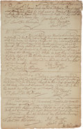 Autographs, [George Washington]. John Washington Document Signed. ...
