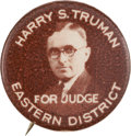 Political:Pinback Buttons (1896-present), Harry S Truman: Classic Judge Button....