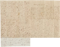 [Civil War - Battle of New Orleans]. Margaretta Wederstrandt Autograph Letter Signed in Defense of the Authorities and C...