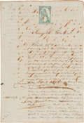Miscellaneous:Ephemera, [Slavery]. Receipt for the Purchase of 69 Black Slaves in Santiagode Cuba on Sealed Paper....
