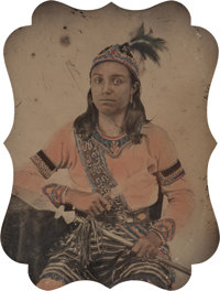 Thomas S. Jube and Mary Ann Jube (American, 19th Century) Portrait of a Native American (Iroquois) Man
