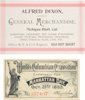 Western Expansion:Goldrush, Wells, Fargo & Company Agency Card and More.... (Total: 2Items)