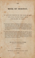 Books:Religion & Theology, Joseph Smith. The Book of Mormon: An Account Written by theHand of Mormon, Upon Plates Taken from the Plates of Nep...
