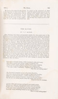 "Books:Literature Pre-1900, [Edgar Allan Poe]. ""The Raven"" [appearing in] The AmericanReview: A Whig Journal of Politics, Literature, Art a... (Total: 2Items)"