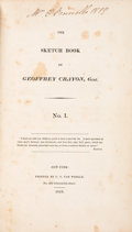 Books:Literature Pre-1900, [Washington Irving]. The Sketch Book of Geoffrey Crayon, Gent. No.I. [and] No. II. New York: C.S. Van Winkle...