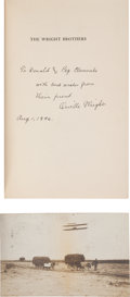 Books:Americana & American History, [Orville Wright, subject]. Fred C. Kelly. The WrightBrothers. New York: Harcourt, Brace and Company, 1946. Laterpr... (Total: 2 )