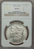 Morgan Dollars: , 1893-O $1 AU55 NGC. NGC Census: (313/1031). PCGS Population (391/1313). Mintage: 300,000. Numismedia Wsl. Price for problem...