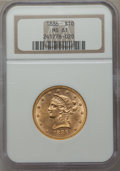 Liberty Eagles: , 1886 $10 MS61 NGC. NGC Census: (194/126). PCGS Population (97/140). Mintage: 236,160. Numismedia Wsl. Price for problem fre...