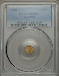 California Fractional Gold: , 1880 25C Indian Octagonal 25 Cents, BG-799J, R.3, MS65+ PCGS. PCGSPopulation (39/7). NGC Census: (10/3). ...
