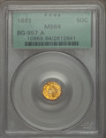 , 1881 50C Indian Octagonal 50 Cents, BG-957 A, Low R.6, MS64 PCGS.PCGS number on holder has changed since this piece was sl...