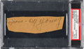 Baseball Collectibles:Others, 1940's Cy Young Signed Cut....