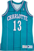 Basketball Collectibles:Uniforms, 1992-93 Kendall Gill Game Worn Charlotte Hornets Jersey. ...