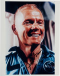 Autographs:Celebrities, John Glenn Signed Color Photo....