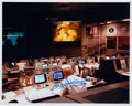 Autographs:Celebrities, Apollo 13 Mission Control Color Photo Signed by Kranz and Haise....