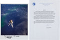 Explorers:Space Exploration, Gordon Cooper Signed Gemini 5 Recovery Color Photo and MissionTypescript. ... (Total: 2 Items)