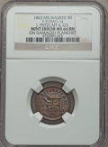 Civil War Merchants, 1863 J. Pritzlaff & Co., Milwaukee, WI -- Struck on DamagedPlanchet -- MS66 Brown NGC. Fuld-WI510AG-1a....