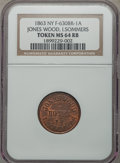 Civil War Merchants, 1863 Jones Wood, I. Sommers, New York, NY, MS64 Red and Brown NGC.Fuld-NY630BR-1a....