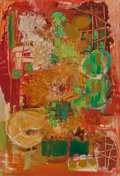 Post-War & Contemporary:Abstract Expressionism, Lea Nikel (Israeli, 1918-2005). Color Interlude, 1961. Oilon canvas. 21-1/2 x 15 inches (54.6 x 38.1 cm). Signed and da...