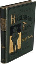 Books:Literature Pre-1900, Mark Twain. Adventures of Huckleberry Finn (Tom Sawyer's Comrade). New York: Charles L. Webster, 1885....