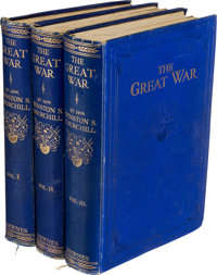 Winston Churchill. The Great War . Fully Illustrated.... London: George Newnes, [1933-1934]
