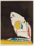 Fine Art - Work on Paper:Print, Robert Motherwell (American, 1915-1991). Capriccio, 1961. Collotype in colors with hand colored pochoir on Arches paper...
