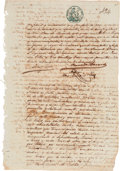 Autographs:Non-American, Facundo Bacardi Massó Document Signed. ...