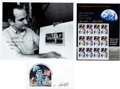 Autographs:Artists, Paul Calle Signed Photo, Cover, and Souvenir Stamp Sheet....(Total: 3 Items)