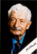 Autographs:Celebrities, Hermann Oberth Signed Color Photo. ...