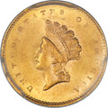 Gold Dollars, 1856-S/S G$1 Type Two FS-501 MS63+ PCGS....