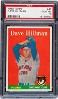 Baseball Cards:Singles (1950-1959), 1958 Topps Dave Hillman #41 PSA Gem Mint 10 - Pop Two!...