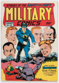 Golden Age (1938-1955):War, Military Comics #25 (Quality, 1944) Condition: FN-....