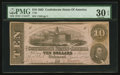 Confederate Notes:1862 Issues, T52 $10 1862 PF-3 Cr. 371.. ...