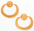 "Luxury Accessories:Accessories, Chanel Gold Hoop Earrings . Very Good Condition. 2.5"" Width x 2.5"" Height. ..."
