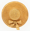 "Luxury Accessories:Accessories, Chanel Gold Sunhat Pin. Excellent Condition. 2""Diameter. ..."