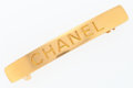 "Luxury Accessories:Accessories, Chanel Gold Hair Barrette. Excellent Condition. .5"" Width x 3""Length. ..."
