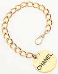"""Luxury Accessories:Accessories, Chanel Gold Circle Bracelet. Good to Very Good Condition. 8.5"""" Length. ..."""