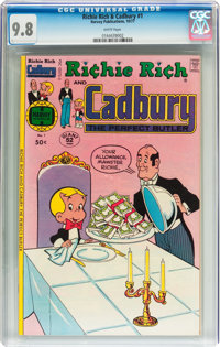 Richie Rich and Cadbury #1 (Harvey, 1977) CGC NM/MT 9.8 White pages
