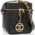 "Luxury Accessories:Bags, Chanel Black Quilted Lambskin Leather Camera Bag with Gold Hardware. Very Good to Excellent Condition. 6"" Width x 7"" H..."