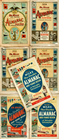 Books:Periodicals, Group of Seven Issues of Dr. Miles New Weather Almanac.Miles Laboratories, [various dates circa 1935].... (Total: 7 )