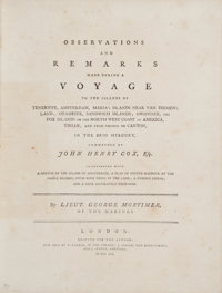 George Mortimer. Observations and Remarks Made During a Voyage to the Islands of Teneriffe, Amsterdam, Maria's