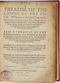 Books:Non-fiction, Iohn Manwood. A Treatise of the Lawes of the Forest...London: Societie Stationers, 1615....