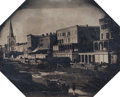 Photographs, Attributed to Felix Moissenet (American, b. ca. 1814). Canal Street, New Orleans, circa 1857-59. Mammoth-plate Ambrotype...