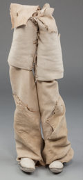 American Indian Art:War Shirts/Garments, A Pair of Taos Painted Hide Boots... (Total: 2 )