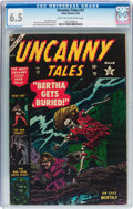 Golden Age (1938-1955):Horror, Uncanny Tales #12 (Atlas, 1953) CGC FN+ 6.5 Light tan to off-whitepages....