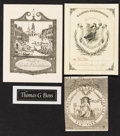 Books:Americana & American History, [Bookplates]. [Various artists]. Collection of One HundredSixty-Four American and British Bookplates. [America, Britain,n.d....