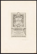 Books:Americana & American History, [Bookplates]. Five Bookplates by Frederick Spenceley. [American,1909-1914]. ...