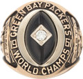 Football Collectibles:Others, 1961 Green Bay Packers NFL Championship Ring Presented to Offensive Line Coach....