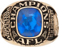 Football Collectibles:Others, 1960 Houston Oilers AFL Championship Ring Presented to Tackle George Shirkey....
