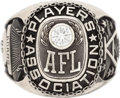 Football Collectibles:Others, 1960's AFL Players Association Ring....